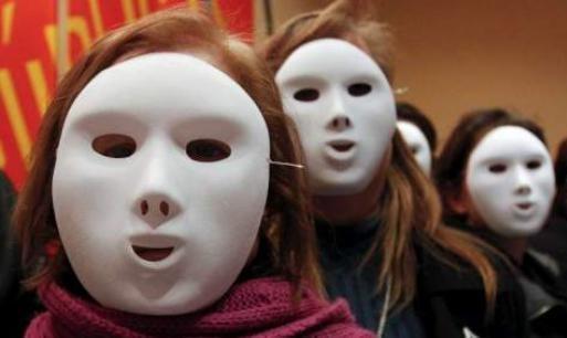 Mujeres que no dan la cara