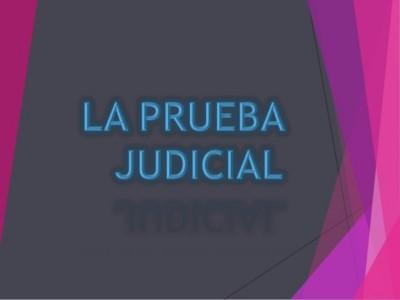 Prueba Judicial
